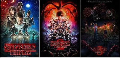 """STRANGER THINGS - 3 POSTERS COLLECTOR SET (Season 1, 2, 3) All 24"""" x 36"""""""