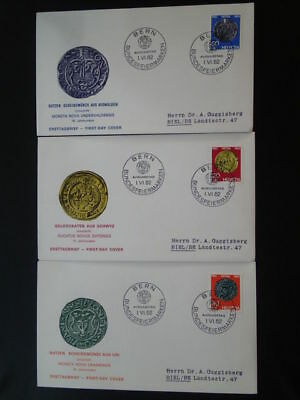 archaeology antique coin numismatic x3 FDC Switzerland 66260