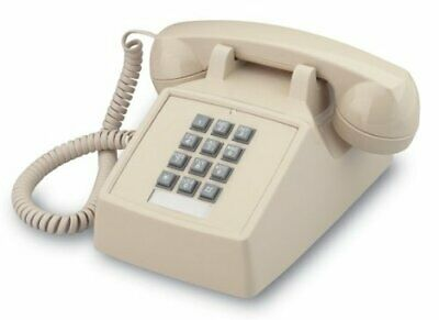 Retro Emergency Phone Beige Push Button Vintage Telephone Corded Collectors Gift