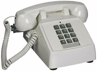 Retro Emergency Phone White Push Button Vintage Telephone Corded Collectors Gift