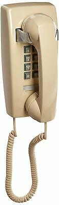 Retro Emergency Wall Phone Push Button Beige White Telephone Corded Gifts
