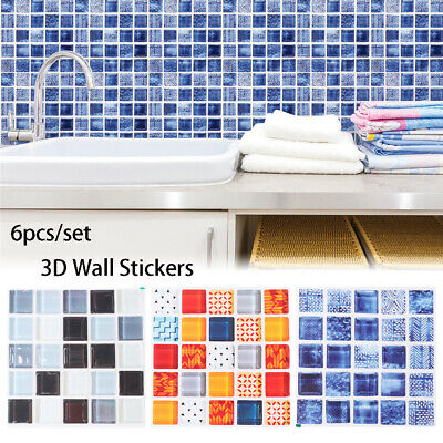 tile sticker Mural Kitchen Wall Decals Mosaic Floor Tiles Diagonal Sticker