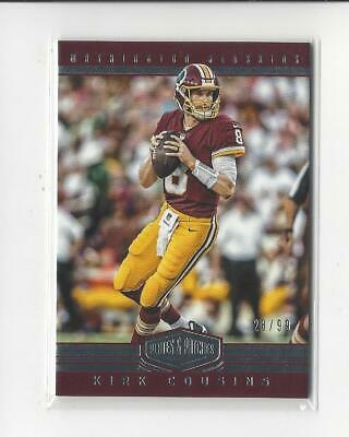 2017 Panini Plates and Patches #64 Kirk Cousins Redskins /99