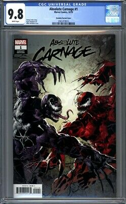 Absolute Carnage #1  Mike Deodato Variant  Venom   1st Print  CGC 9.8