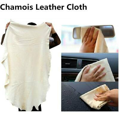 Large Natural Chamois Leather Car Cleaning Washing Cloth Absorbent Drying Towel