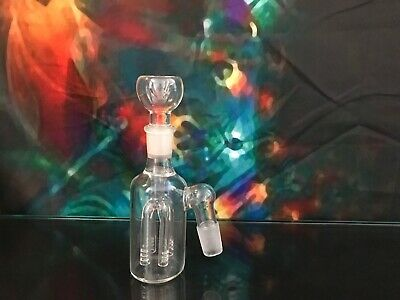 Ash Catcher- 4 Arm Tree Perc With Clear Glass Bowl