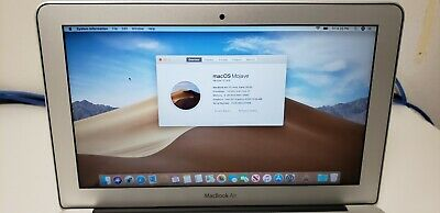 "2015 Apple MacBook Air 11.6"" A1465 Core i5 1.6GHz 4GB RAM 120GB SSD MacOS Mojave"