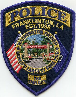 FRANKLINTON WASHINGTON PARISH LOUISIANA The Fair City COLORFUL POLICE PATCH