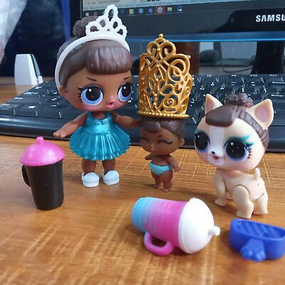Rare LOL Surprise Doll MISS BABY Family Big Sister & LiL Sis & Pet Glam CLUB Toy