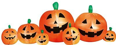 Halloween Inflatable LED Lighted 8' Wide Pumpkin Patch Airblown Yard Decoration