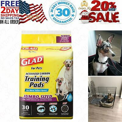 Glad for Pets JUMBO-SIZE Charcoal Puppy Pads | Black Training Pads That ABSORB &