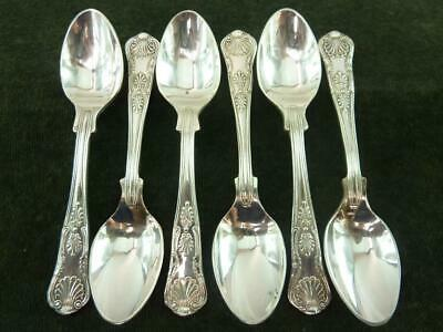 6  nice vintage EPNS A1 Coffee Spoons kings pattern silver plated #2