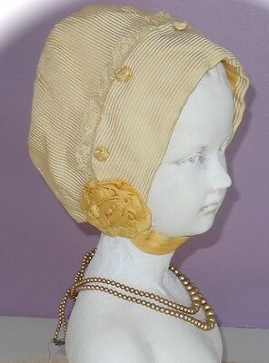 Late 1800's Gorgeous Baby Bonnet with Magnificent Ribbon Work