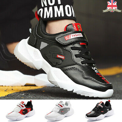 Autumn Kids Fashion Sneakers Boys Girls Running Shoes Comfy Hook & Loop