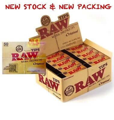 Raw Tips Natural Unrefined Filter Tips, Brown FULL BOX of 50 PACKS LOOSE**