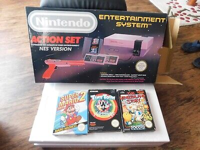 Nintendo Entertainment System Nes Action Set Boxed Complete With 5 Games