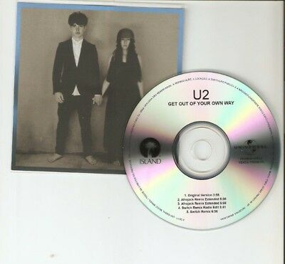 U2 'Get Out Of Your Own Way' 5 Remix Brazilian Cd Promo