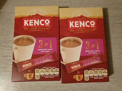 Kenco 3 in 1 White Instant Coffee2 x5. 10 sticks. Smooth white coffee with sugar