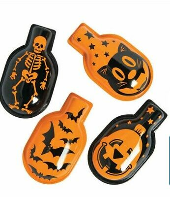 Set Of 4 Reproduction Vintage Halloween 🎃 Designs Metal Clickers Noisemakers!