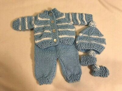 """Blue and white  5 Piece Outfit for Bitty Baby or any 15"""" doll"""