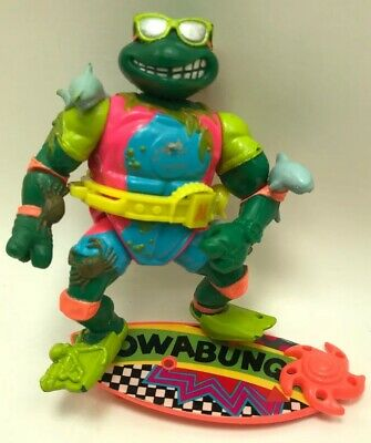 1990 Surfer Michaelangelo Teenage Mutant Ninja Turtles TMNT Vintage Figure