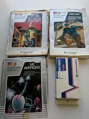 Commodore VIC 20 Game Bundle - 4 x Boxed Games