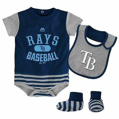 Tampa Bay Rays Cute Navy Blue Short Sleeve Bodysuit Outfit Size 3//6 months