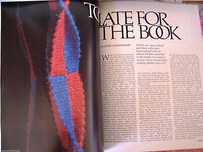 Prairie Wool Companion 10 Overshot Boundweave Tablet Weaving Celtic Magazine