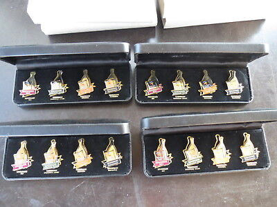 4 x Used BOXED SETS OF SYDNEY 2000 OLYMPIC LINDEMANS WINE COMMEMORATIVE PINS,