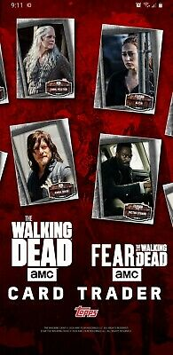 Topps THE WALKING DEAD Digital-Any 9 Cards