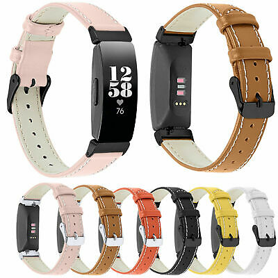 Leather Strap Wristbands Watch Bracelet For Fitbit inspire / inspire HR Bands