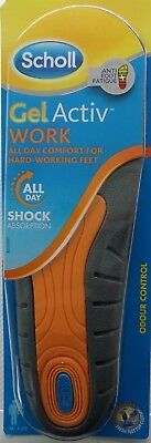 NEW ISSUE Scholl Gel Activ Work Boots Insoles for Men  Size 7-12  FREE DELIVERY