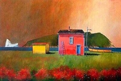 """Handpainted Landscape Oil Painting On Canvas Modern Art for home 16""""x24"""" - ZF122"""