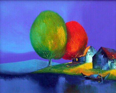 """Handpainted Landscape Oil Painting On Canvas Modern Art for home 16""""x20"""" - ZF123"""