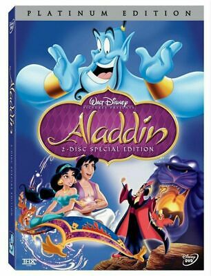 Aladdin (DVD, 2004, 2-Disc Set, Platinum Edition) >>Free Fast Shipping>>>