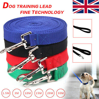 Dog Training Lead Strong Rope Webbing Halter Control Leash Recall 3M 10M 20M 30M