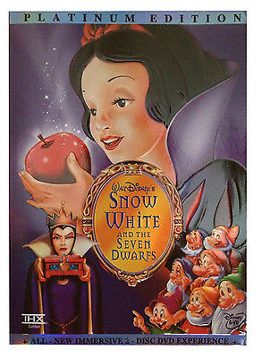 Snow White and the Seven Dwarfs (DVD 2-Disc Set, Platinum Edition) Free Shipping