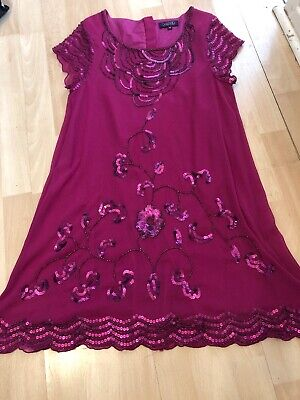 Ted Baker Pink Sequin Party Dress Age 14 Years 13-14