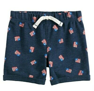 BOYS SIZE 4T JUMPING BEANS NAVY BLUE COTTON CARGO SHORTS NEW #14889