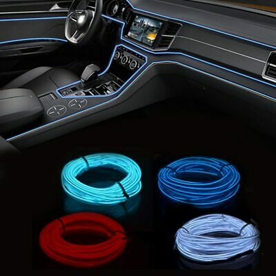 3M 12V EL Car Neon LED Light Decoration Flexible Strip Tube LED Lamp
