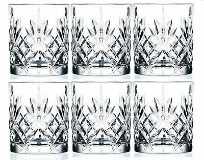 Set of 6X RCR Italian Crystal Melodia Whiskey Glass Box 23cl