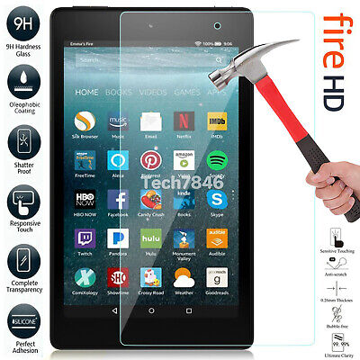 """Tempered Glass Screen Protector Cover For Amazon Kindle Fire HD 2019/18 10"""" 8"""""""