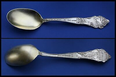 Antique Sterling Silver Spoon South Dakota SD State Capitol, Plow Horses & Motto