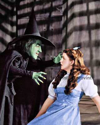 WIZARD of OZ Photo Judy Garland DOROTHY WICKED WITCH Photograph Print 8x10