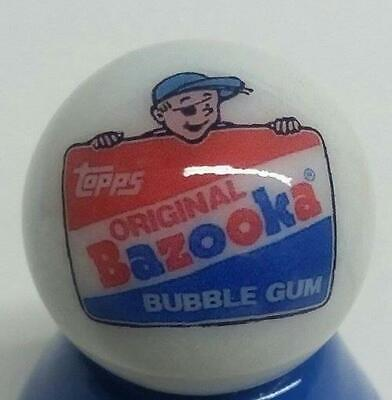 """Very Nice Dubble Bubble B Collectible Glass 1/"""" Logo Marble w// Stand"""