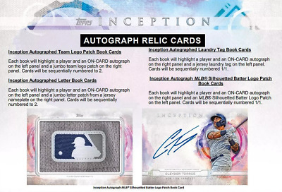 2019 Topps Inception Baseball Live Pick Your Player (Pyp) 1 Box Break #3