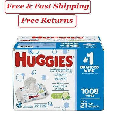 Huggies Refreshing Clean Baby Wipes, Disposable Soft Pack (1,008 ct.)