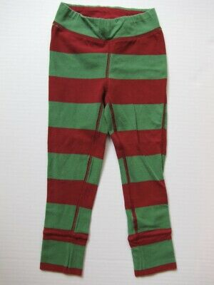 Gap Kids Girls Holiday Green and Red Stripped Play Time Leggings Size XS 4 5
