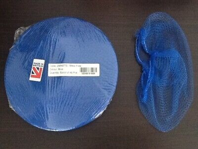 48 Blue Disposable Hair Nets for catering Suntanning salons food hygiene DMNETS