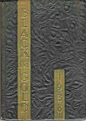 1938 Winston-Salem, NC High School Yearbook-Black & Gold - ALL NAMES IN LISTING!